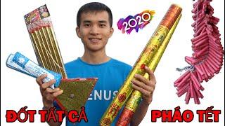 Đốt Tất Cả Các Loại Pháo Hoa Ngày Tết Được Phép Sử Dụng Ở Việt Nam (Happy New Year 2020)
