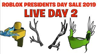 ROBLOX PRESIDENTS DAY SALE 2019 LIVE
