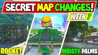 "Fortnite: ALL SECRET MAP CHANGES v10.30 ""Rocket Returns"" + ""Moisty Palms"" - Season X WEEK 7"