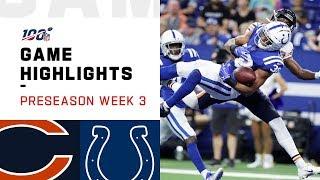 Bears vs. Colts Preseason Week 3 Highlights | NFL 2019