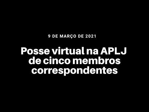 Posse virtual na APLJ de cinco membros correspondentes