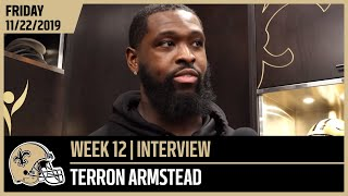Terron Armstead Talks Panthers Pass Rush Ahead of Week 12 | New Orleans Saints Football
