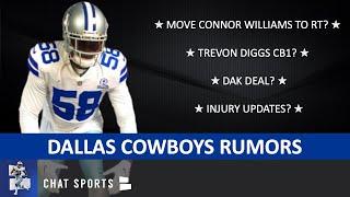 Cowboys Rumors On Injury News, Trevon Diggs, Dak Prescott Deal, Aldon Smith & Connor Williams To RT?
