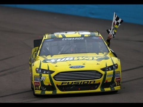 Carl Edwards wins the Subway Fresh Fit 500 in Phoenix! - YouTube