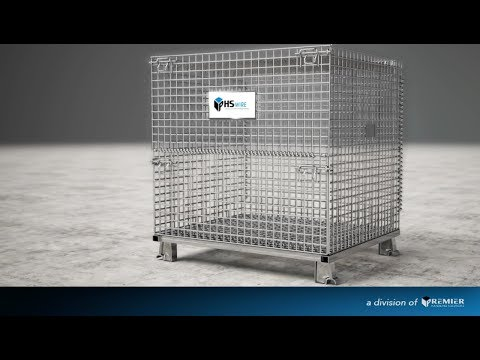 video LARGE WIRE CONTAINER 40 X 48 X 36