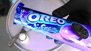 Ice Cream Oreo - Ice Cream Rolls | how to make Oreo Cookies rolled fried Ice Cream - Recipe | ASMR