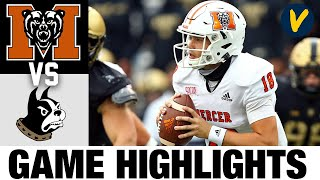 Mercer vs #17 Wofford Highlights   2021 Spring FCS College Football Highlights