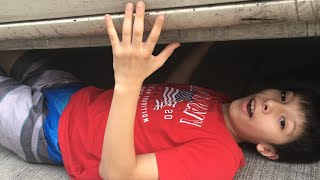 I hid under a Car!!!(XTREME HIDE AND SEEK)Winner get's $100🤑🤑