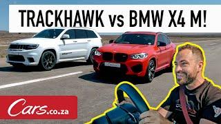 Drag Race: Jeep Trackhawk vs BMW X4 M