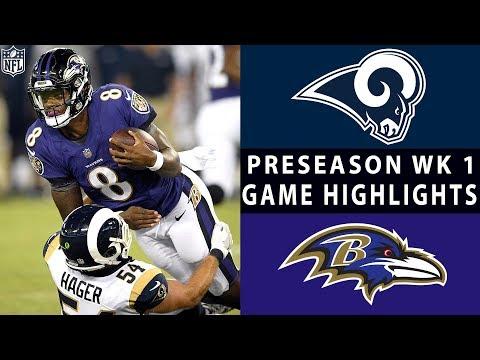 Rams Vs. Ravens Highlights | NFL 2018 Preseason Week 1 - Xem Video Clip HOT Nhất 2017