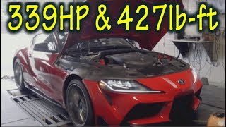 2020 Toyota Supra Horsepower is UNDERRATED! 339HP & 427lb-ft @ the wheels!!!