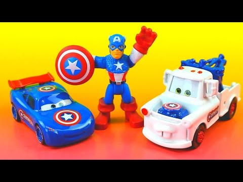 Lightning McQueen & Mater save Red Captain America fire disney cars