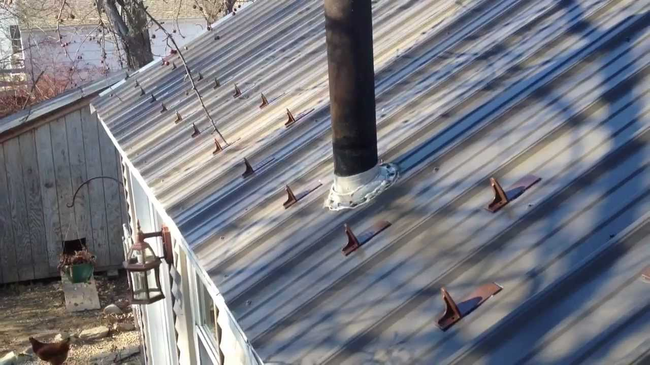 How To Install Roof Snow Guards On A Metal Roof Youtube