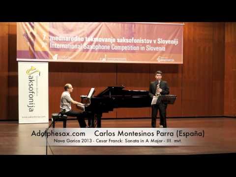Carlos Montesinos Parra - Cesar Frank Sonata in A Major 3rd Mov