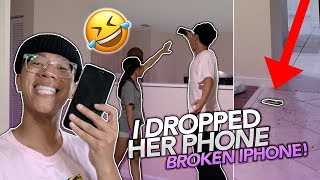 I BROKE My Little Sister's iPhone XR!! **HILARIOUS, she cried alot**