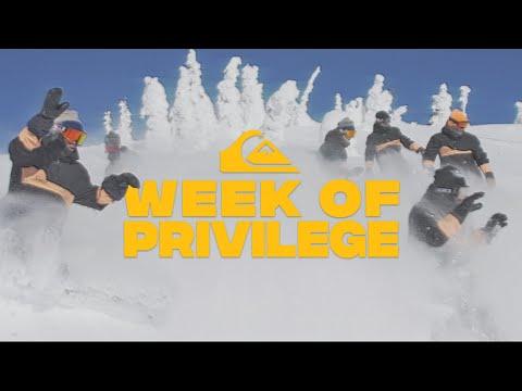 QUIKSILVER SNOW TEAM 2019 - WEEK OF PRIVILEGE