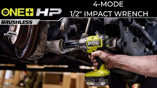 "Video: Llave de impacto ONE+ HP de 1/2"", sin escobillas, 4 modos, 18 V"