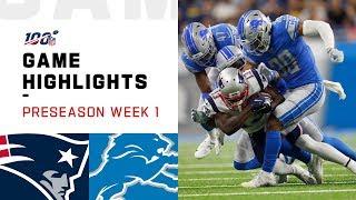 Patriots vs. Lions Preseason Week 1 Highlights | NFL 2019