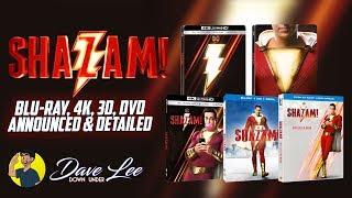 SHAZAM! - Blu-ray, 4K, 3D, DVD Announced & Detailed