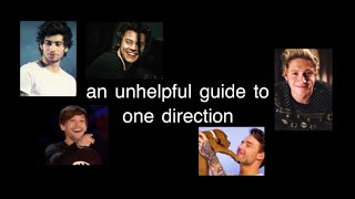 an unhelpful guide to one direction