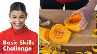 50 People Try to Open and Chop a Butternut Squash | Epicurious