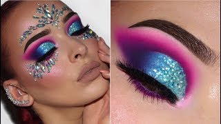 FESTIVAL INSPIRED MAKEUP TUTORIAL | Colourful & Glittery