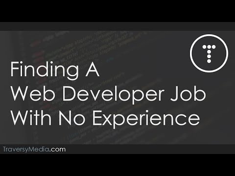 Finding A Web Developer Job With No Experience