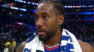 Kawhi Leonard Postgame Interview - Lakers vs Clippers | October 22, 2019 | 2019-20 NBA Season