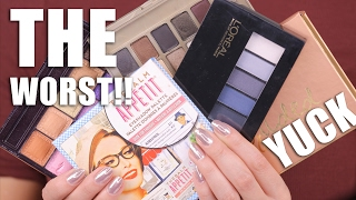 WORST MAKEUP PALETTES | Save Your Money !!!