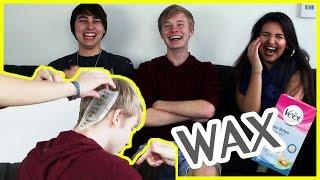 WAXING MY HEAD! | Best Friend VS. Girlfriend Challenge