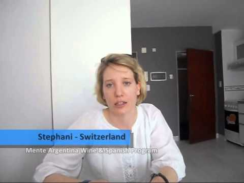 Stephani, a student from Switzerland participated in the Mente Argentina Wine & Spanish Program.