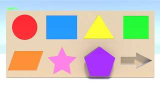 Learn Shapes and Colors with 3D Wooden Box -  Learning Videos for Kids