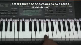 Om Shanti Om Theme Music (Piano Tutorials)