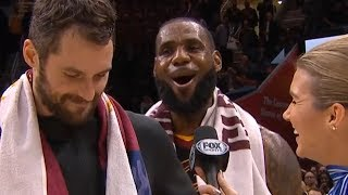 LeBron James Postgame Interview / Cavaliers vs Lakers