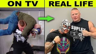 10 WWE Enemies Who Are Friends in Real Life - Brock Lesnar & Rey Mysterio