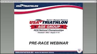 Pre-race webinar 2018 USA Triathlon Age Group National Championships