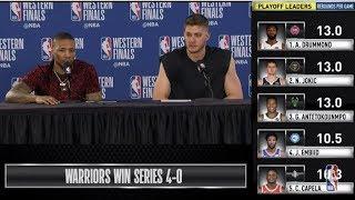 Damian Lillard & Meyers Leonard  Press Conference | Western Conference Finals Game 4