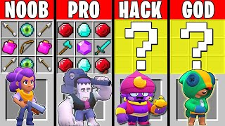 Minecraft NOOB vs PRO vs HACKER vs GOD : SUPER BRAWL STARS Challenge in Minecraft!