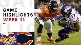 Vikings vs. Bears Week 11 Highlights | NFL 2018