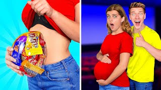 15 Weird Ways To Sneak Candy Into the Movies & How To Not Get Caught! Last To Drop Food Wins