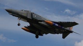 4Kᵁᴴᴰ 2x HAF F-4E Phantom PI-2000 Low Approach & Landing @ Luchtmachtdagen Volkel 2019