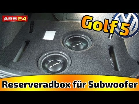 reserveradbox f r subwoofer im kofferraum selber bauen. Black Bedroom Furniture Sets. Home Design Ideas