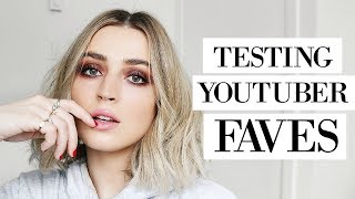 TESTING YOUTUBERS' FAVE MAKEUP PRODUCTS | allanaramaa