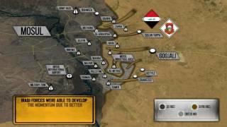 LETE U VAZDUH MOSTOVI NA TIGRU: Očajnički potez terorista da odbrane grad (MAPA/VIDEO)