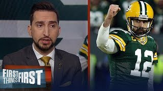 Aaron Rodgers was perfect for Packers in playoff game vs. Seahawks — Nick | NFL | FIRST THINGS FIRST