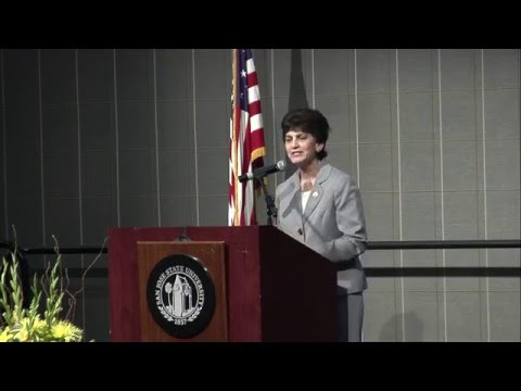 Incoming SJSU President Mary Papazian at Welcome Reception