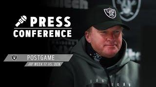 Coach Gruden, Jacobs, Waller, Edwards, Crosby & Carr Postgame Presser - 1.3.21 | Las Vegas Raiders