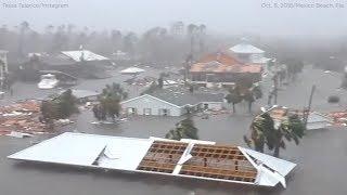 Hurricane Michael damage: Mexico Beach storm surge