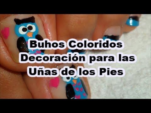 buhos decoracin para las uas de los pies nail art cute owl pedicure