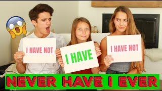 NEVER HAVE I EVER w/ Little Sister and Cousin! | Brent Rivera